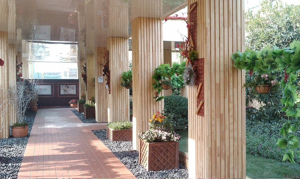售楼处样板房通道花艺布置